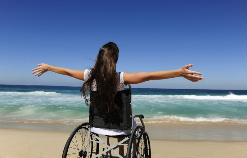 Wheelchair Woman Beach